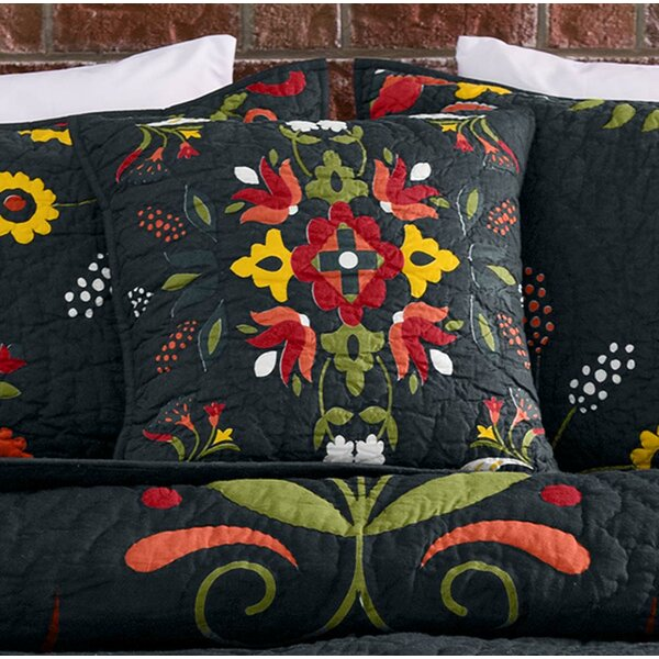Ansley Folk Art 100% Cotton Throw Pillow by Plow & Hearth